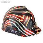 Rugged Blue Custom Hydro Dipped American Flag Hard Hat MSA V