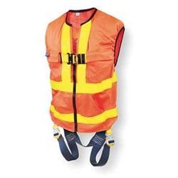 Delta Vest Hi Vis Orange Workvest Style Harness, Reflective,