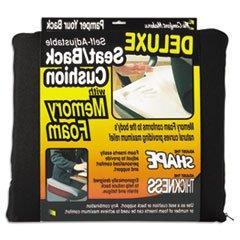 * Deluxe Seat/Back Cushion w/Memory Foam, 17-1/2w x 2-3/4d x