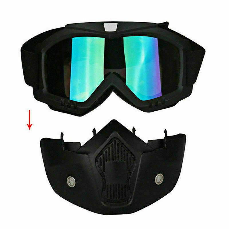 Detachable Safety Face Mask Goggles Glare Work Protect Glasses