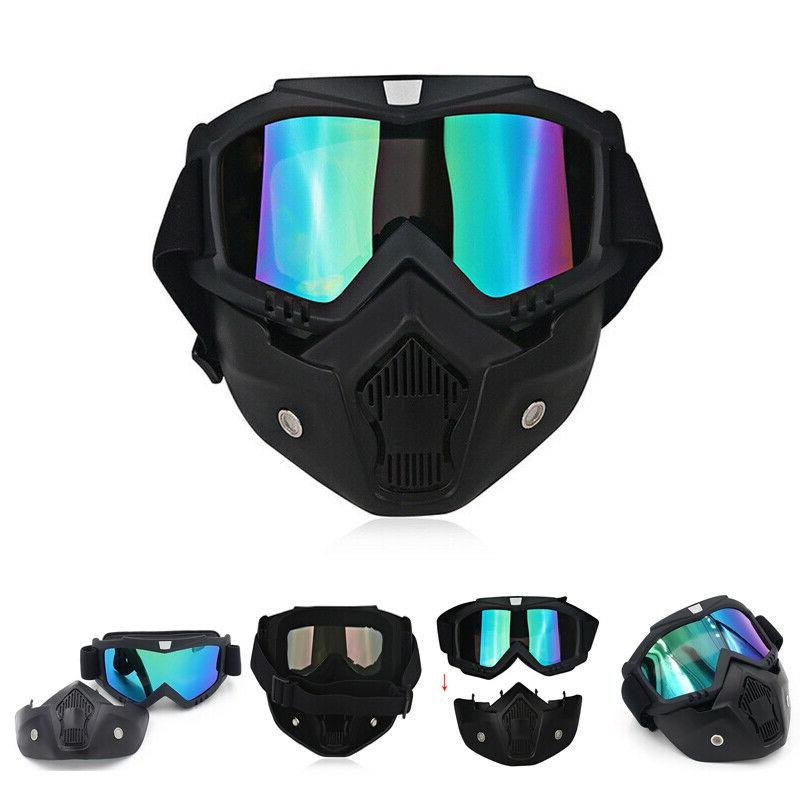 Detachable Face Goggles Glare Protect Glasses