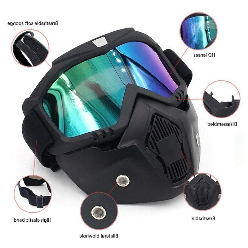 Detachable Face Goggles Anti-UV Wind Dust Glare