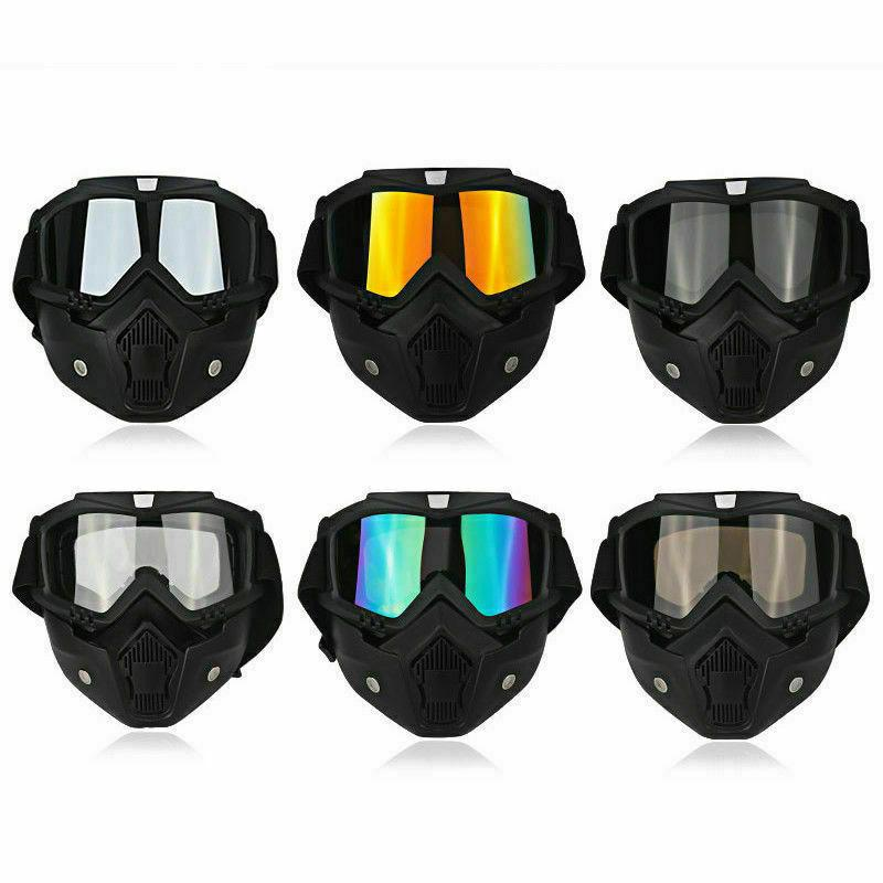 Detachable Safety Face Goggles Anti-UV Wind Dust Glare