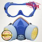 Dust Paint Mask Full Face Respirator Filter Spray Protect Sm
