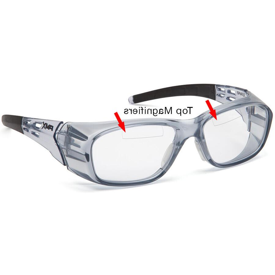 emerge bifocal safety glasses trans gray clear