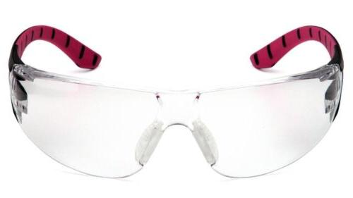 Pyramex Pink Clear Womens Safety Glasses Z87+