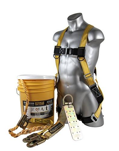 Fall Protection Equipment Roofer Safety Harness Kit Anchor L