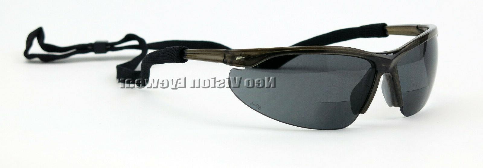 ERB Pinpoint Bifocal Safety Glasses Smoke Magnifier Reading