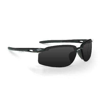 Crossfire ES5W Safety Glasses with Smoke Lens, Black Frame