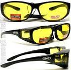 Escort Yellow Night Driving HD Lens Safety Glasses Fit Over
