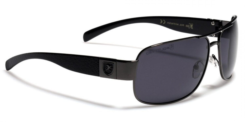 Men Sports Eyewear Black Polarized Aviator Glasses Driving O
