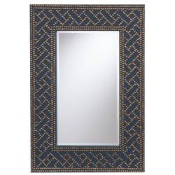 Florian Beveled Mirror in Navy