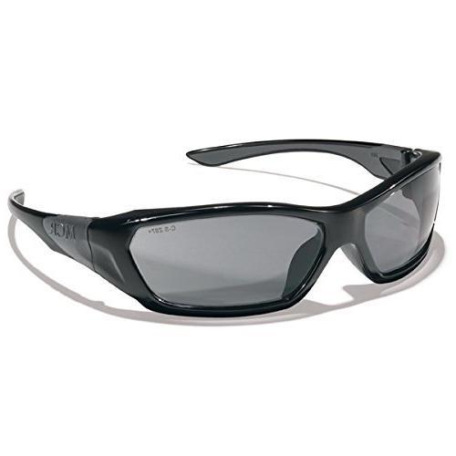 ForceFlex Safety Glasses, Black Frame, Gray Lens