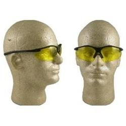 Pyramex Fortress Safety Glasses Black Frame with Amber Lens