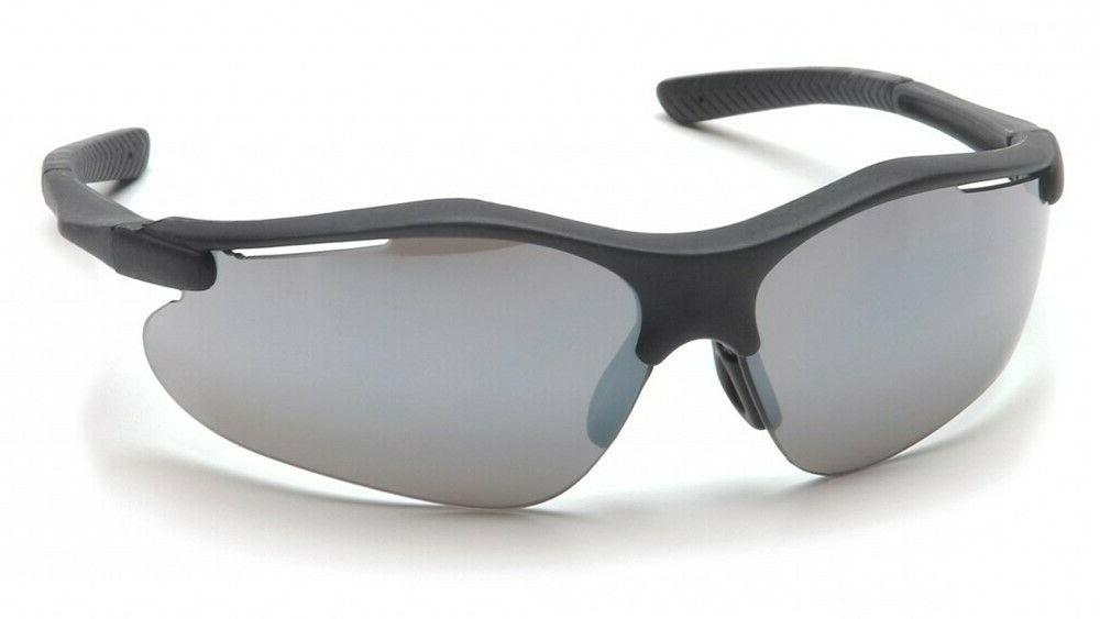 fortress safety glasses black frame with silver