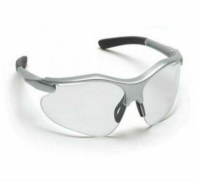 fortress safety glasses clear lens silver frame