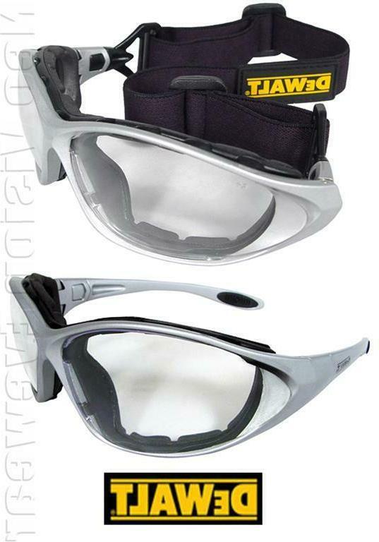framework clear lens padded hybrid safety glasses