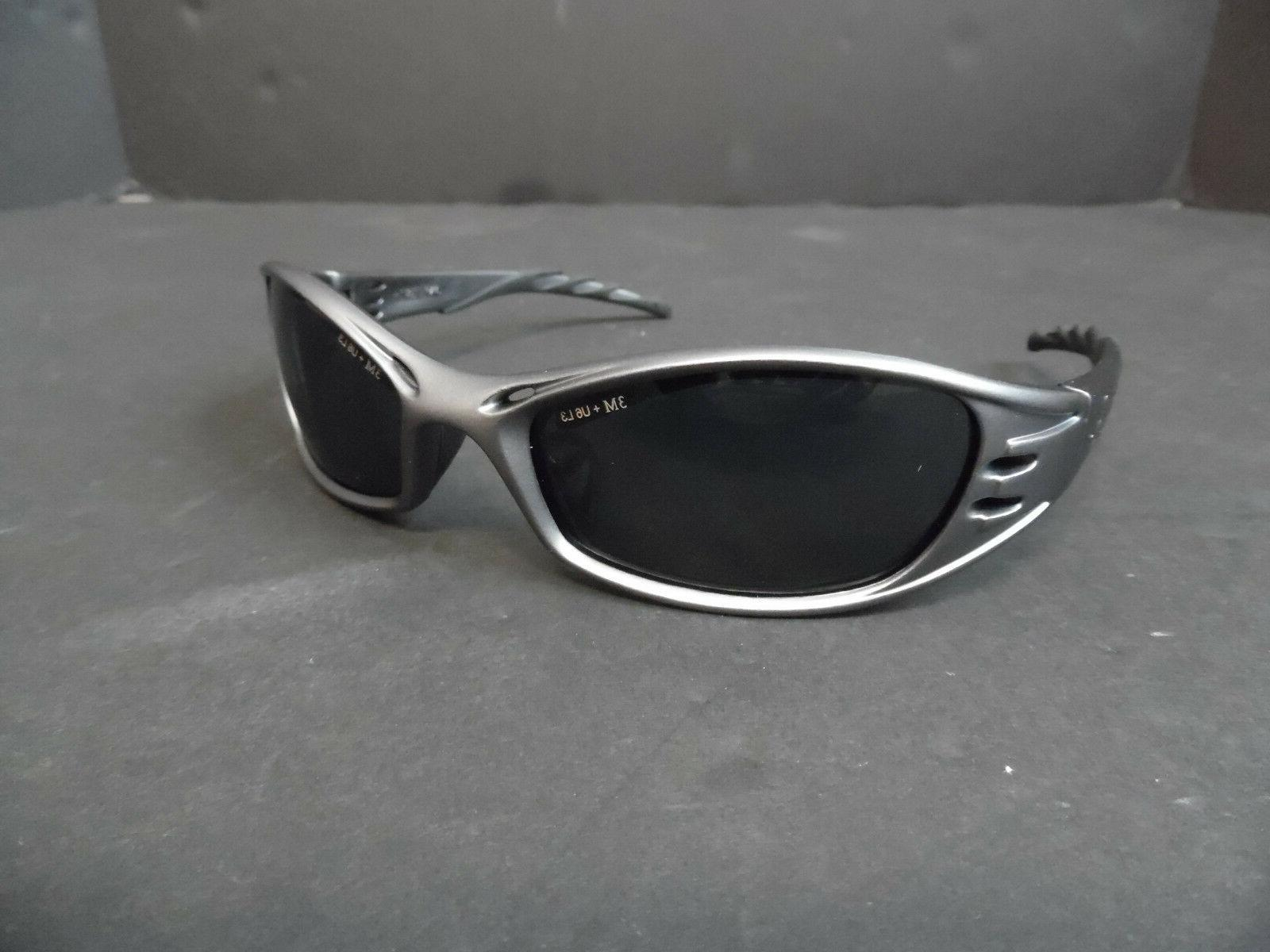 fuel safety glasses silver black with black