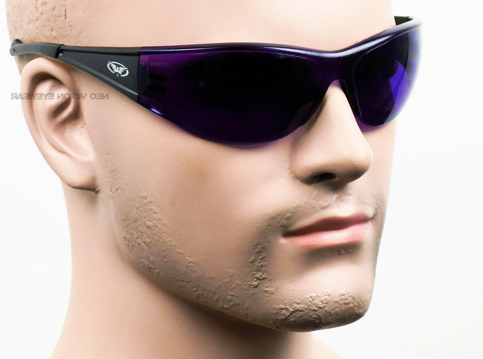 Global Vision Full Purple Lens Safety Glasses Sunglasses Z87+
