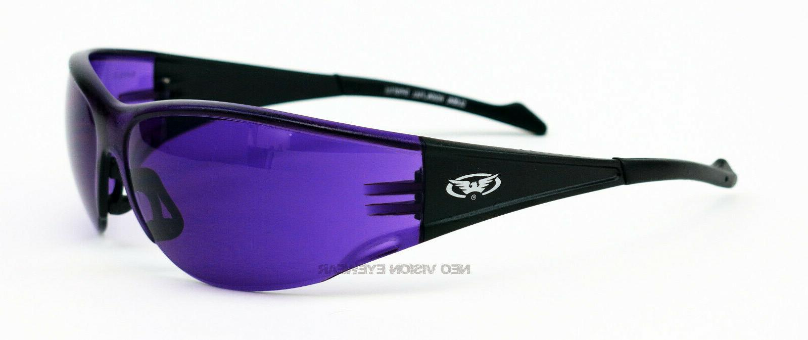 Global Purple Safety Glasses Sunglasses Z87+