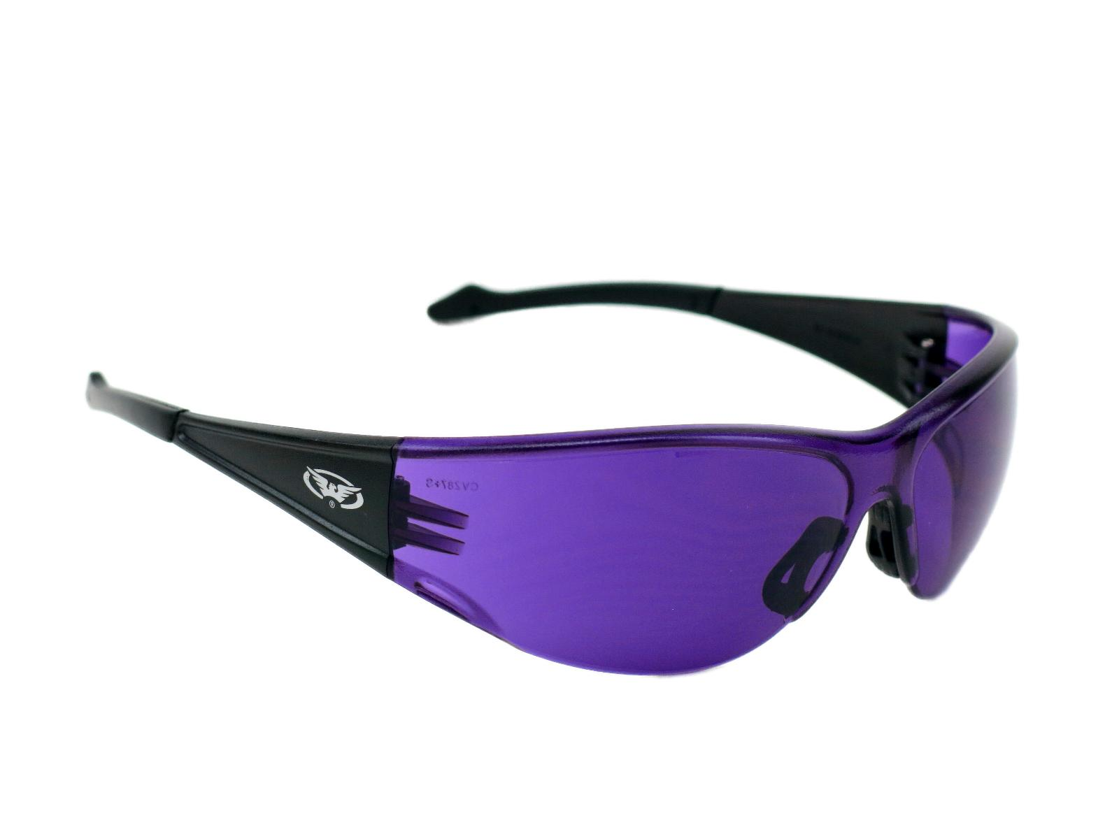 full throttle purple lens safety glasses sunglasses