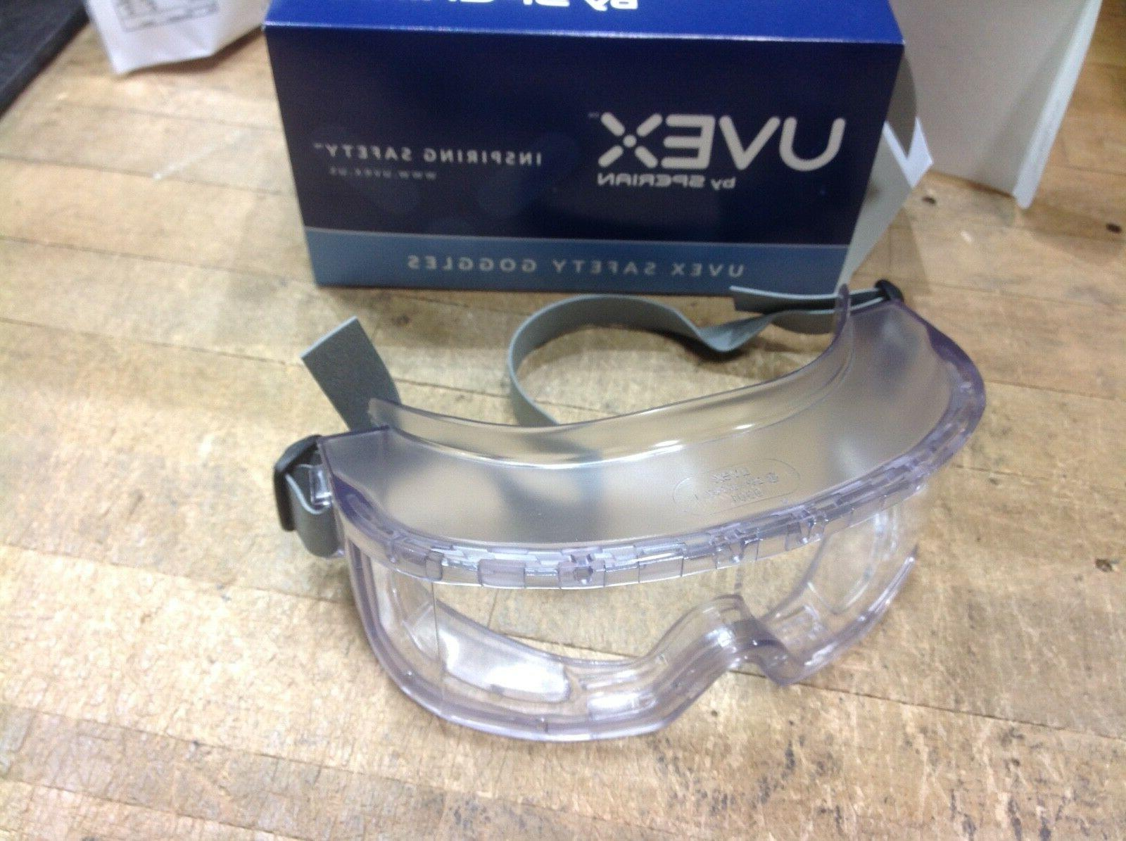 Uvex by Honeywell Futura Goggles, Clear Frame, Clear Lens, I