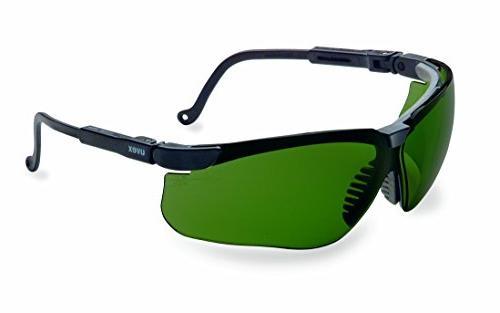 Uvex Genesis Shooting Glasses, Black Frame, 3.0 ID Tint Lens