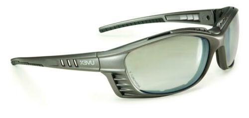 Glasses Safety with Silver Frame and Gray Anti-Fog Tinted Le