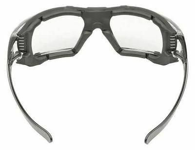Elvex Glasses Gray Foam Padded, Clear Anti-Fog