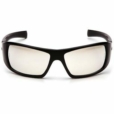 Pyramex Goliath Safety Eyewear, Black Frame, Indoor/Outdoor