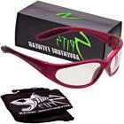 Hercules Safety Glasses - Red Frame - Clear Anti-Fog Lenses