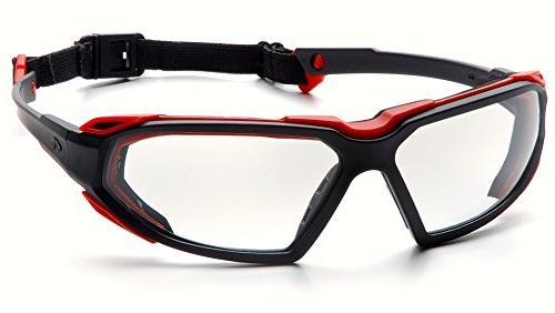 Black-Red Frame/Clear