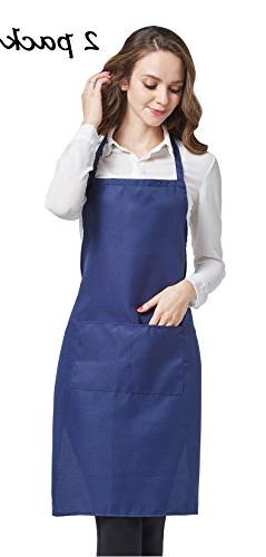 HOPESHINE 2-Pack Aprons for Women with Pockets Water Resista