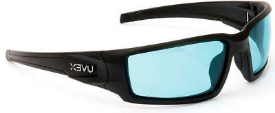 Uvex Hypershock Safety Glasses Black Frame SCT Blue Hydroshi