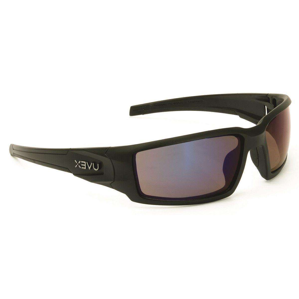 Uvex Hypershock Safety Glasses with Matte Black Frame and Bl