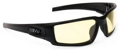 Uvex Hypershock Safety Glasses Black Frame Amber Hydroshield