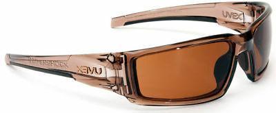 hypershock safety glasses brown frame espresso hydroshield