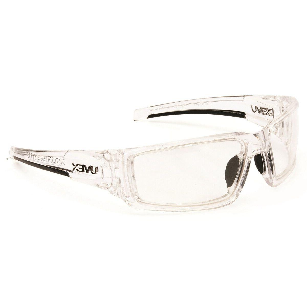 hypershock safety glasses clear ice frame clear