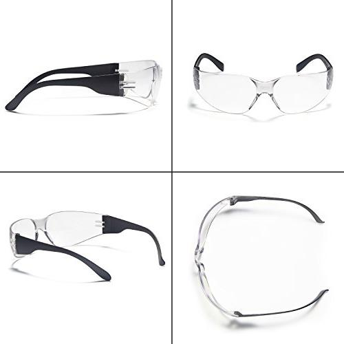 TRUST 12 Impact and Ballistic Resistant Safety Protective Clear Lenses Assorted Colors