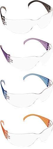 Pyramex Intruder Safety Eyewear, Multi Color Frames, Clear-H