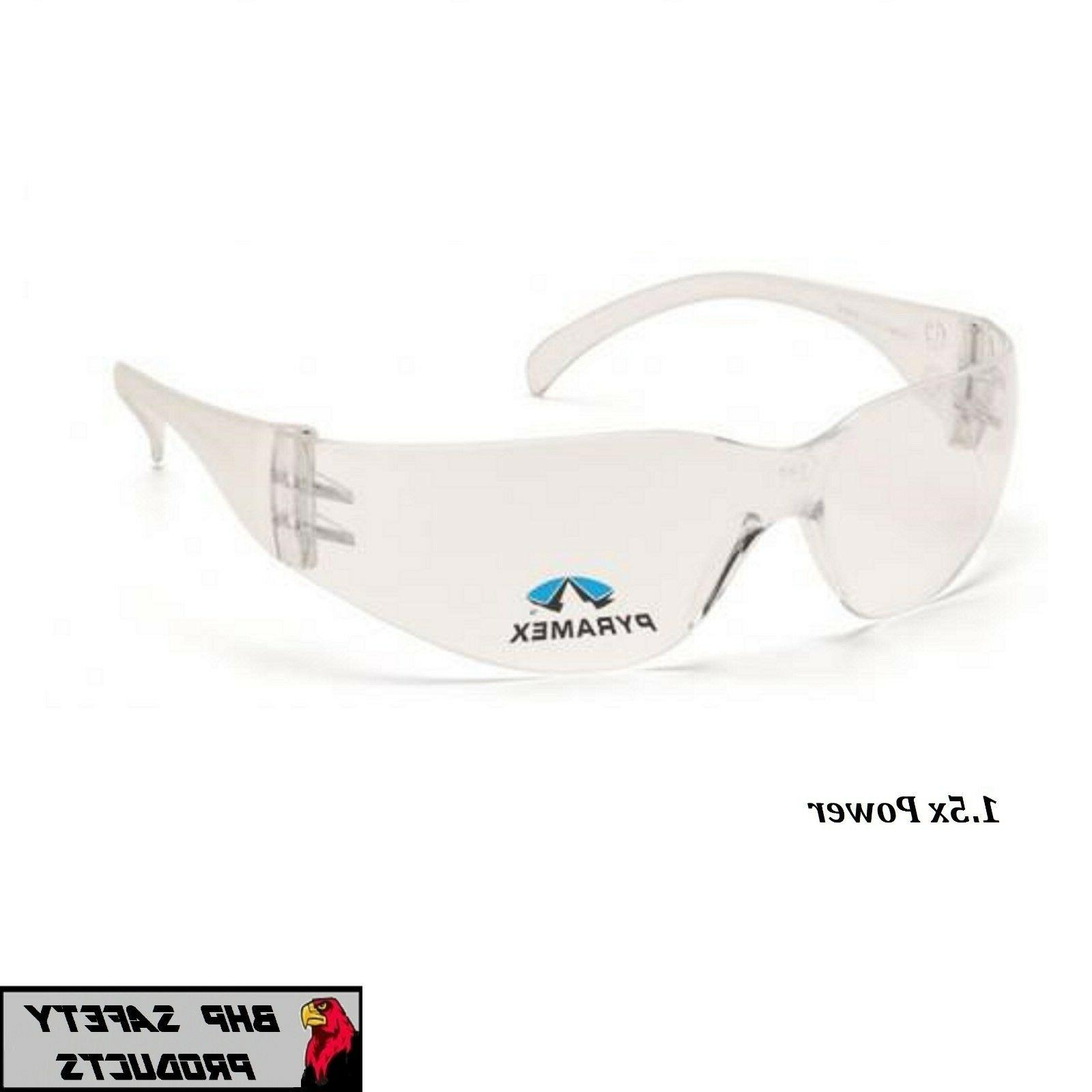 PYRAMEX INTRUDER READER SAFETY GLASSES BIFOCAL CLEAR 1.5 LEN