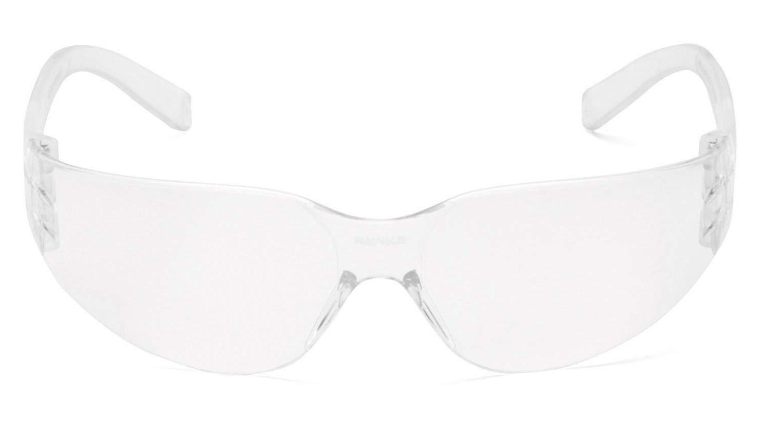 intruder safety eyewear clear frame clear hardcoated