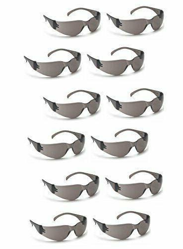 intruder safety glasses smoke gray lens sunglasses