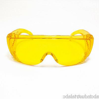 JORES AMBER YELLOW LENS SAFETY FITS OVER THE NIGHT DRIVING G