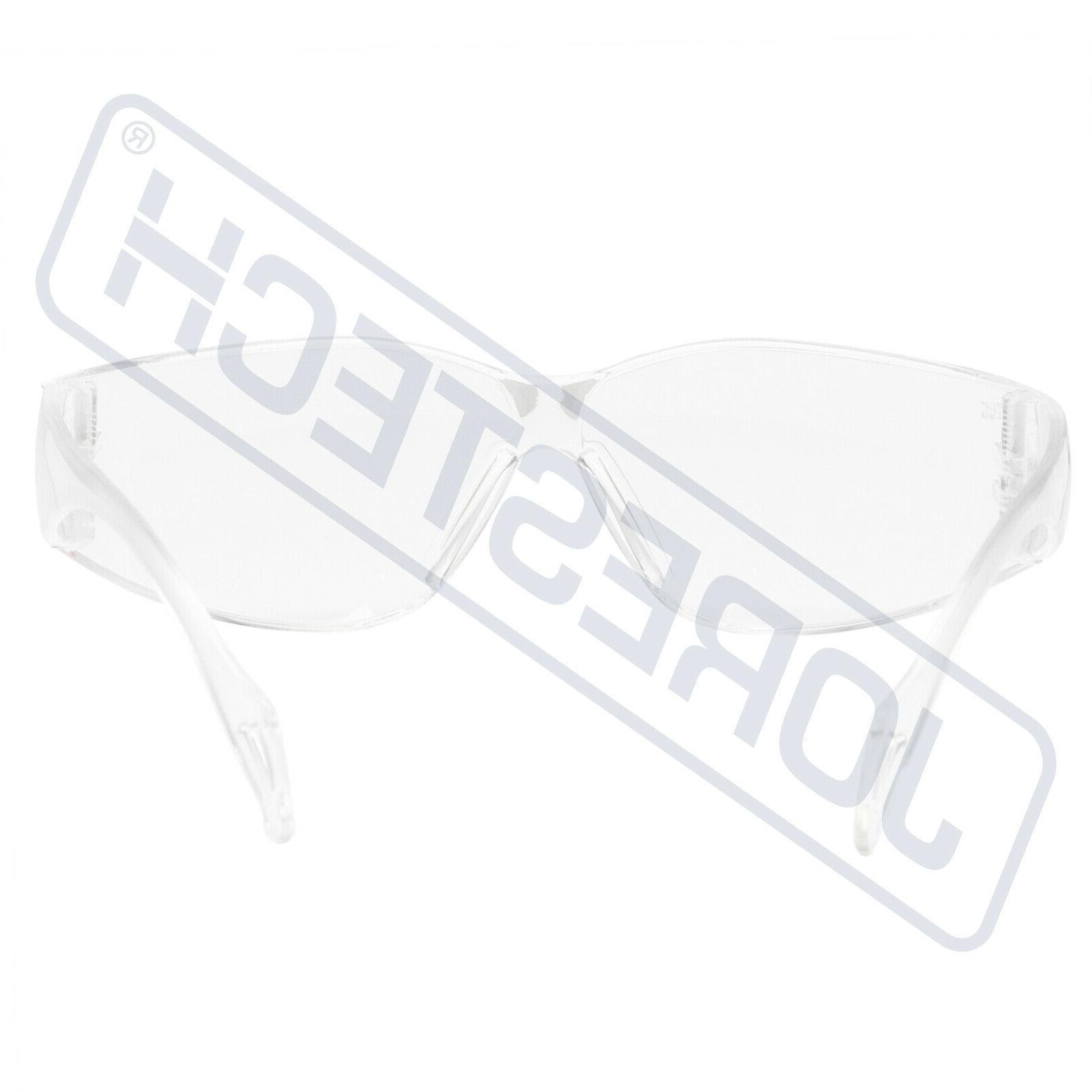 KIDS 12 PAIR JORESTECH CLEAR UV LOT SAFETY GLASSES