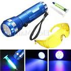 Leak Detector A/C Automotive Fluid Gas 14 LED UV Light & Saf
