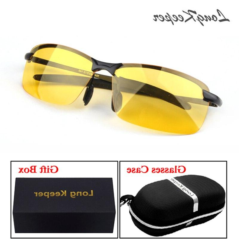 longkeeper polarized night vision sunglasses with case