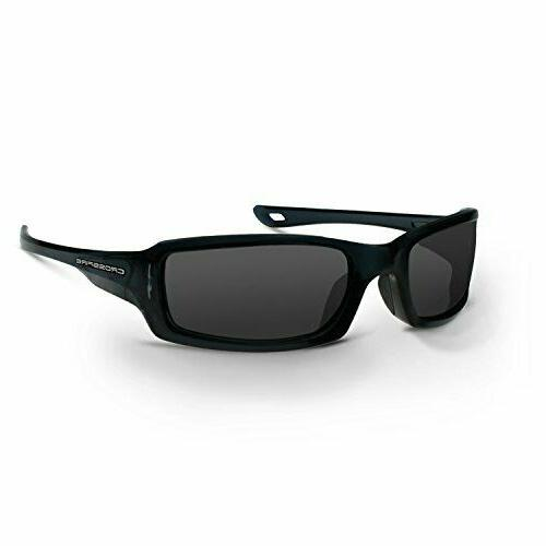 Crossfire M6A Safety Glasses - Smoke, Crystal Black