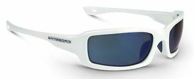 Crossfire M6A Safety Glasses - Blue Mirror, White