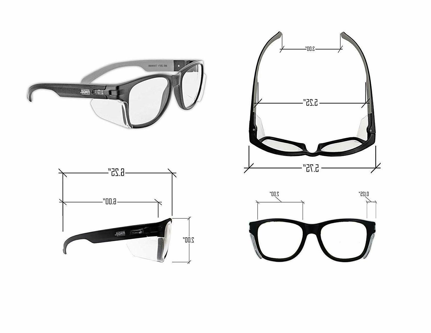 Safety Glasses Anti Fog Permanent Side Shields Scratch Resistant 2